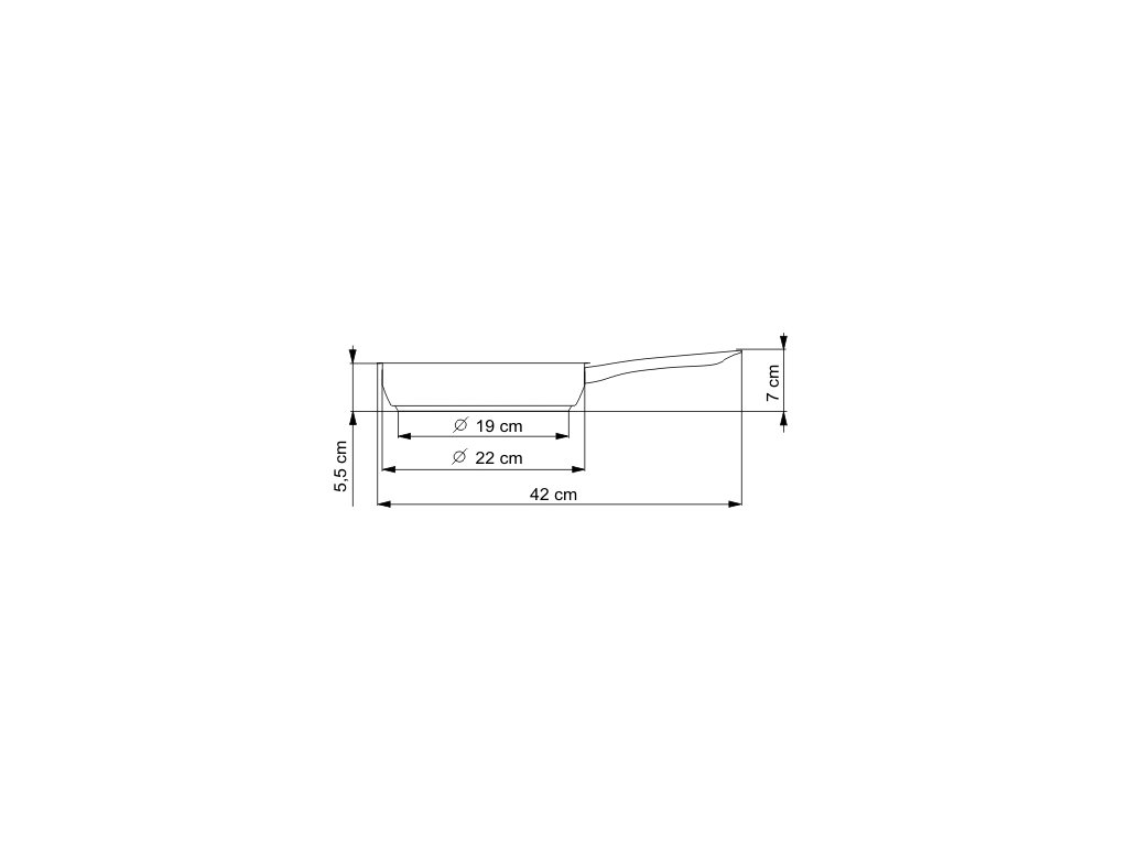 KOLIMAX KLASIK pánev 22 cm kovová rukojeť