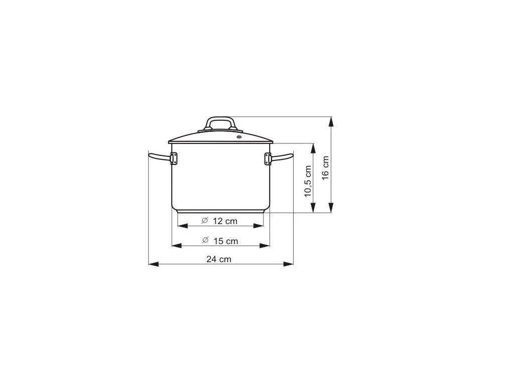 KOLIMAX PROFESSIONAL hrnec s rukojetí, s poklicí 15cm 1,5l