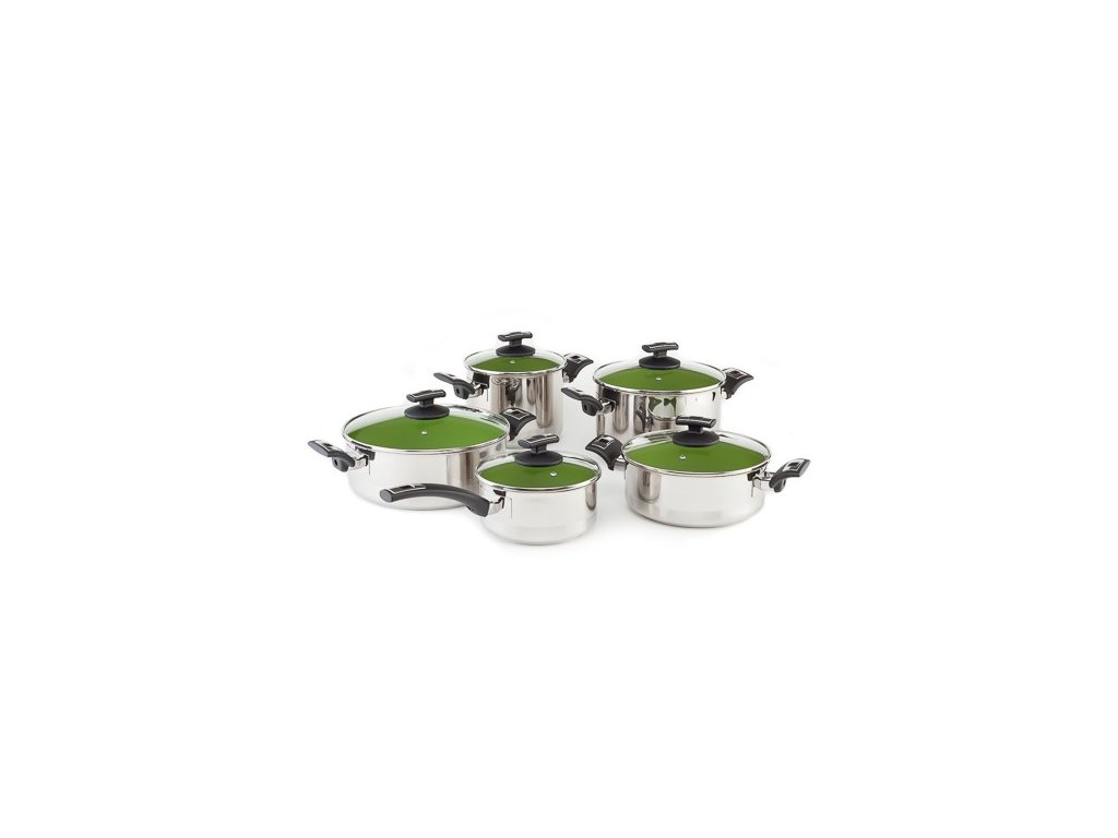 KOLIMAX CERAMMAX PRO COMFORT sada nádobí 10 dílů, zelená
