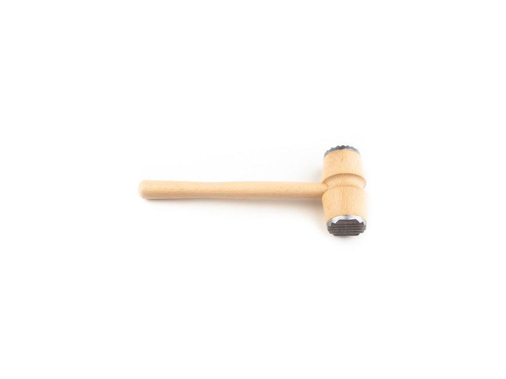 KOLIMAX Dřevěné výrobky palička na maso s kovem