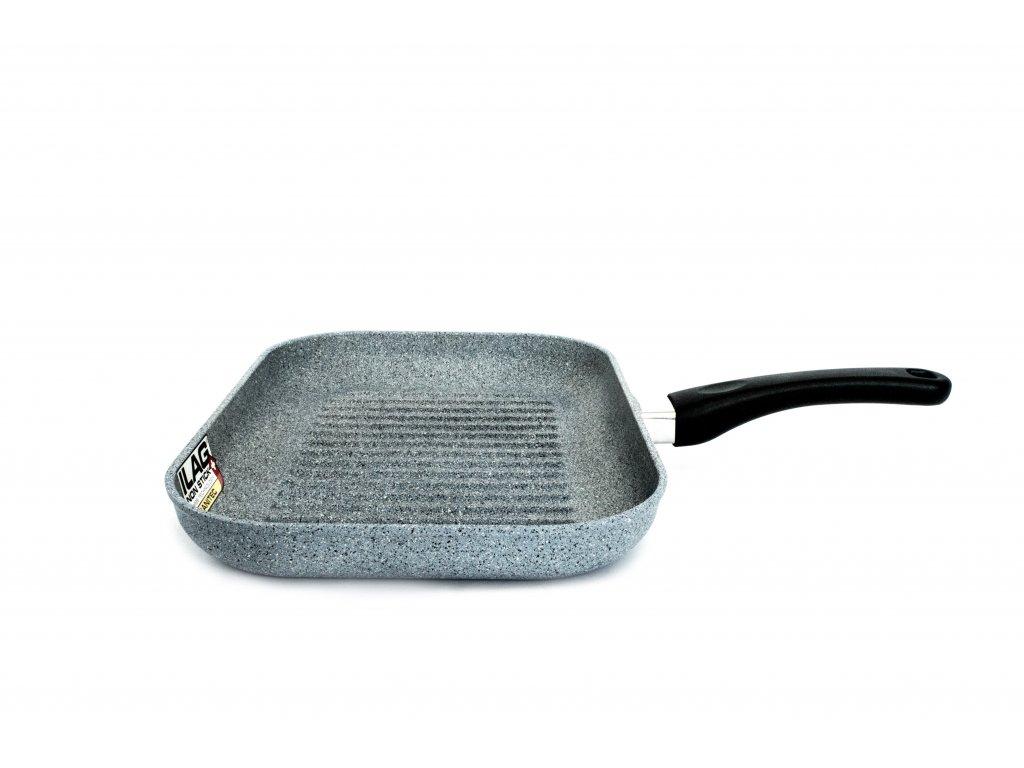 Grilovací pánev PROTITAN linie Granit - šedý, indukční, 25x35cm  + zdarma dárek SETLEGOGIRL v hodnotě 369,- Kč