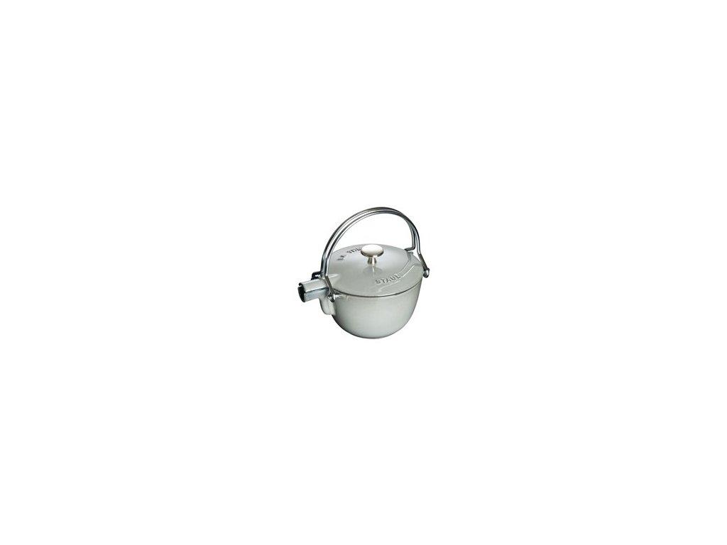 Konvice na čaj Staub Ø 16,5 cm, litinová - grafitově šedá