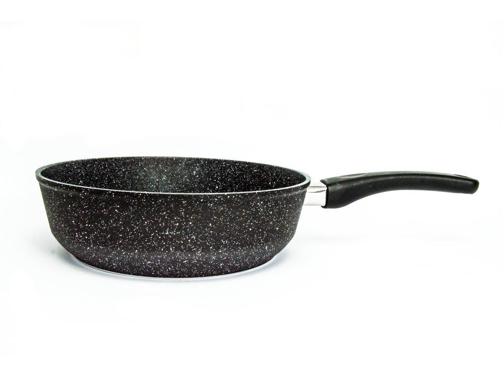 Pánev vysoká bez poklice PROTITAN linie GRANIT- černá, neindukční, průměr 28 cm, výška 7 cm