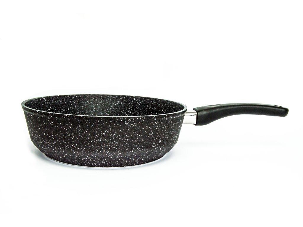 Pánev vysoká bez poklice PROTITAN linie GRANIT - černá, neindukční, průměr 26 cm, výška 7cm