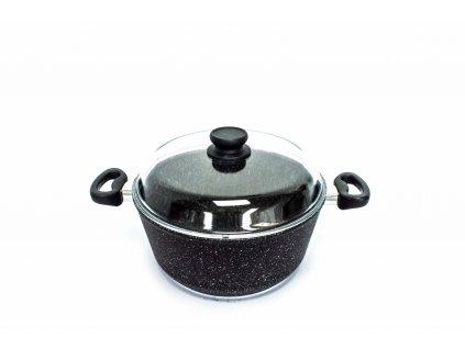Hrnec na těstoviny PROTITAN linie Granit - černý, neindukční, 3,8 litrů  + zdarma dárek SETLEGOGIRL v hodnotě 369,- Kč