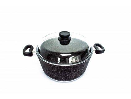 Hrnec na těstoviny PROTITAN linie Granit - černý, indukční, 3,8 litrů  České titanové nádobí s granitovou úpravou PROTITAN linie GRANIT