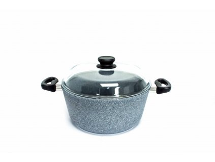 Polévkový hrnec velký PROTITAN linie GRANIT - šedý, indukční, 6 litrů