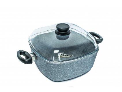 Zapékací hrnec PROTITAN linie GRANIT - šedý, indukční,  5.1 litru 26x26x11 cm  + zdarma dárek SETLEGOGIRL v hodnotě 369,- Kč