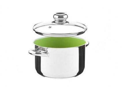 KOLIMAX CERAMMAX PRO STANDARD hrnec s poklicí 18cm 2,5l, zelená