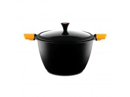 Indukční hrnec se skleněnou pokličkou Castey - 20 cm  Designové španělské titanové nádobí