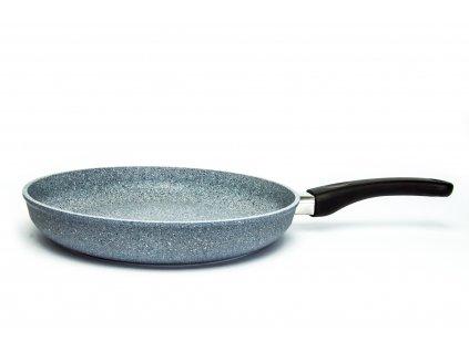 Pánev na omelety bez poklice PROTITAN linie GRANIT - šedá, neindukční, průměr 28 cm, výška 5cm
