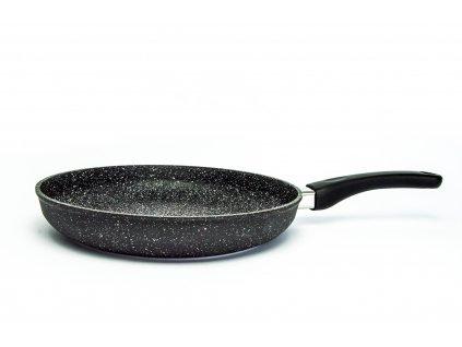 Pánev na omelety bez poklice PROTITAN linie GRANIT - černá, neindukční, průměr 28 cm, výška 5cm  + zdarma dárek SETLEGOGIRL v hodnotě 369,- Kč
