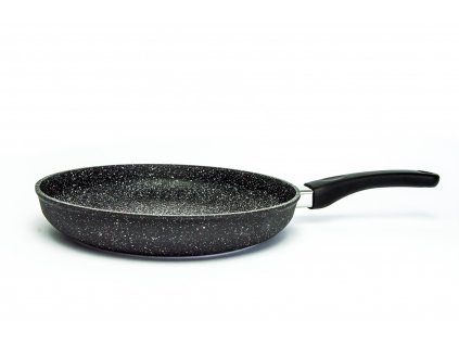 Pánev na omelety bez poklice PROTITAN linie GRANIT - černá, neindukční, průměr 28 cm, výška 5cm