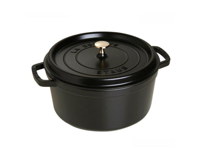 STAUB Cocotte hrnec kulatý, 24 cm, černý