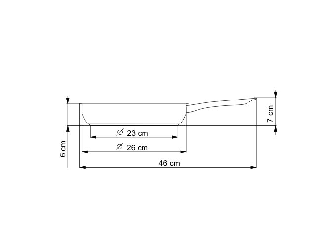 KOLIMAX KLASIK pánev 26 cm kovová rukojeť