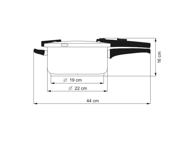 KOLIMAX BIOMAX tlakový hrnec 22cm 4,0l
