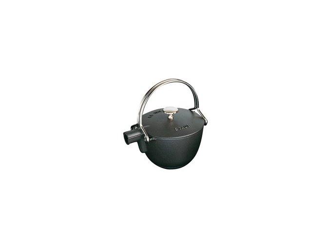 Konvice na čaj Staub Ø 16,5 cm, litinová - černá