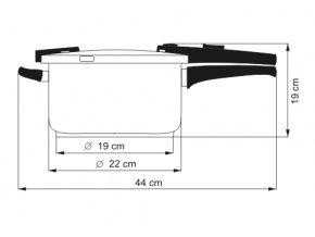KOLIMAX BIOMAX tlakový hrnec 22cm 6,0l