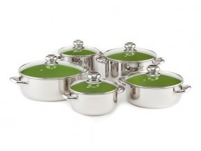 OLIMAX CERAMMAX PRO STANDARD sada nádobí 10 dílů, zelená