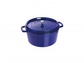 Hrnec kulatý s poklicí - tmavě modrý , 24cm, 3,8 litru